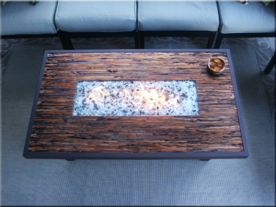 Little Fire Glass Table