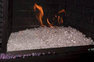 Ice Fire Glass FireGlass Ice and Fire Glass Fire Pit Design