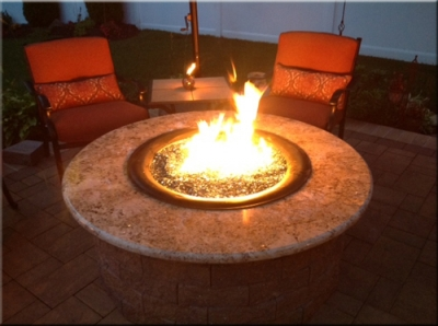 How to build a propane fire pit these outdoor propane fire table fire pit pictures come to us from doug robertson we helped doug build his dream fire table all through emails and phone solutioingenieria Choice Image