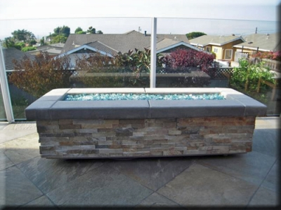 custom portable fire pit with fire glass 17