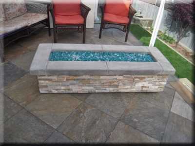 custom portable fire pit with fire glass 14