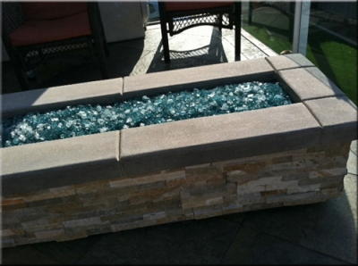 custom portable fire pit with fire glass 15