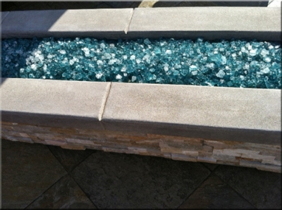 custom portable fire pit with fire glass 18
