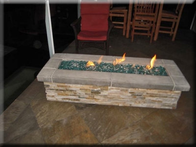 custom portable fire pit with fire glass 19