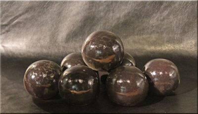 "4"" Dark Brown Fire Balls"