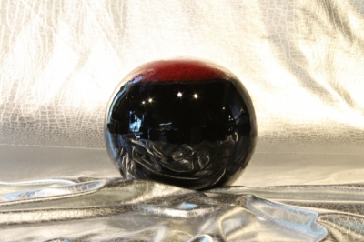 6 inch dark red on Black Fireball