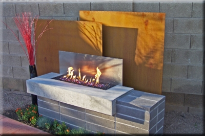 propane fire pit with glass 2