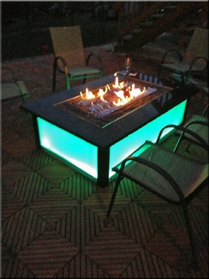 Aquatic Glassel Moderustic Fire Pit Fire Glass Design