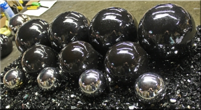 Chrome Black Fire Balls