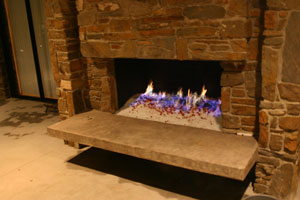 Self Install Fireplaces With Glass And Ice Fireglass