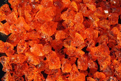 Orange Glass Ice Fireplaces And Fire Pits