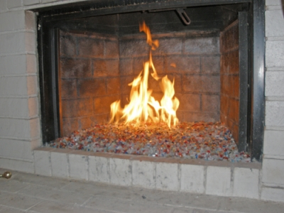 Fireplaces With Glass Rocks Fireplace Glass Fire Glass Fire Pit Glass FireGlass Do It YourSelf
