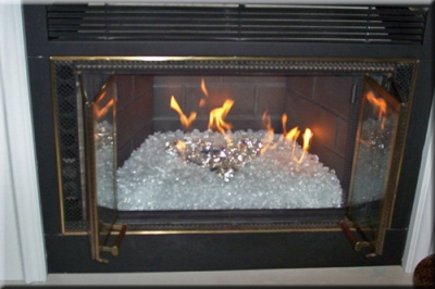 Glass And Ice For Your Fireplace Design Fireplace And Fire Pit Glass