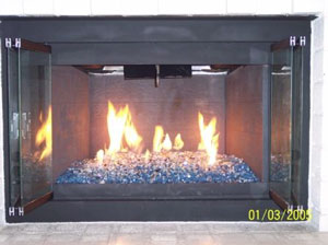 Fireplaces With Glass Rocks Fire Glass Fireglass Blue Fireplace And Fire Pit Glass