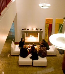 Hotel Fireglass fireplace